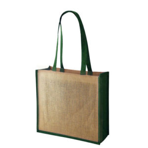 Simba Coloured Trim Jute Bag