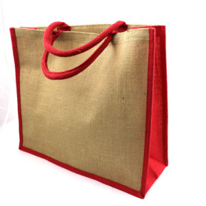 Large Natural Bag with Dyed Gusset, Stupid Tuesday
