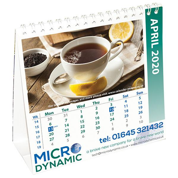 Personalised square easel calendar