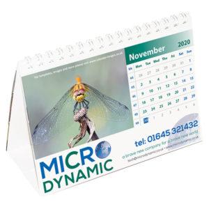 Personalised medium easel calendar