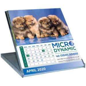 Personalised standard case desk calendar