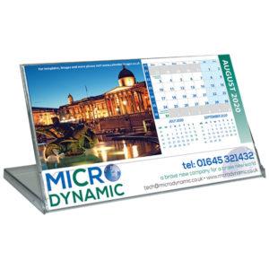 Personalised landscape cased desk calendar