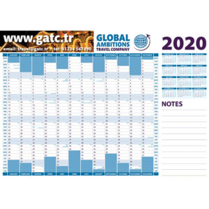 Personalised A3 wall planner