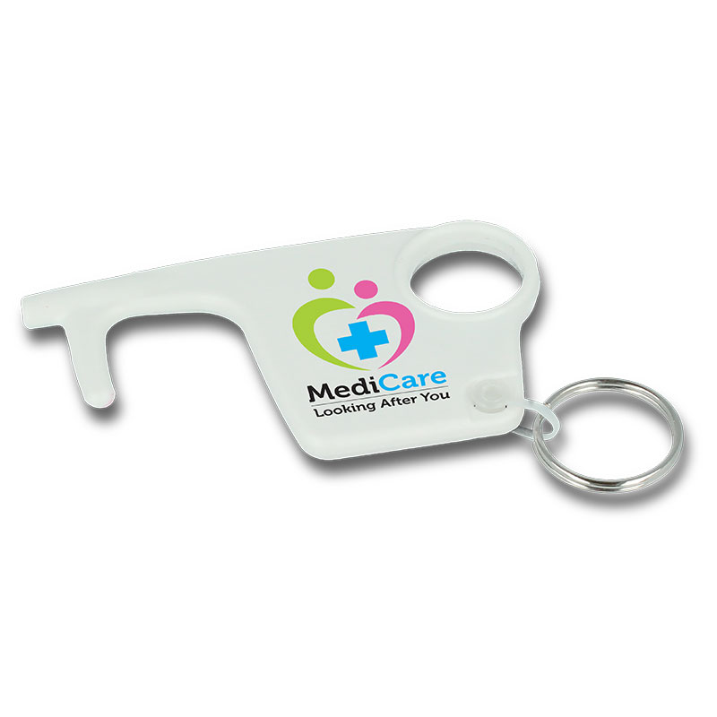 Hygiene Hook Keyrings - White