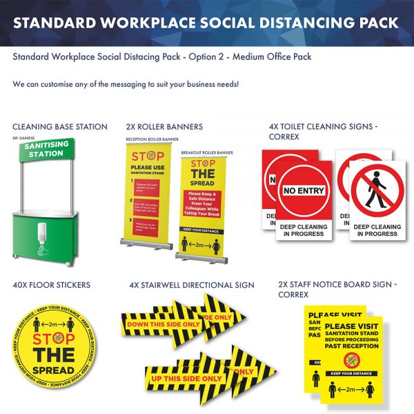Workplace Social Distancing Pack 2