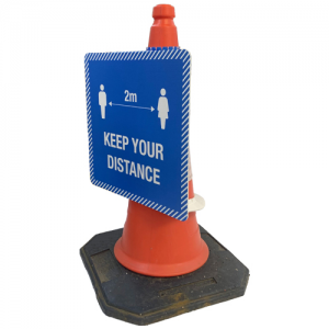Social Distancing Correx Cone Signs