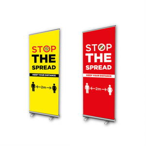 Covid-19 Social Distancing Banner Stands