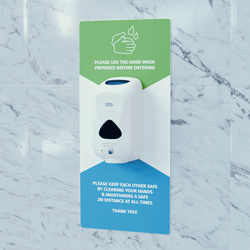 wall-mounted automatic hand sanitiser