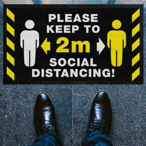 Social Distancing Entrance Floormat - Small, Social Distancing Entrance Floormat – Small, Stupid Tuesday, Stupid Tuesday