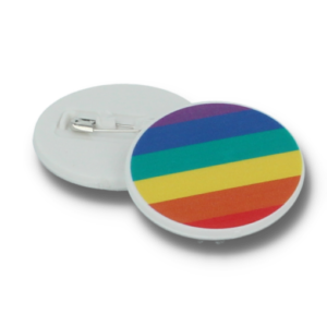 Rainbow 37mm Circular Recycled Button Badge