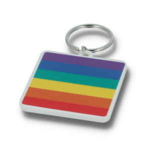 Recycled 45mm Rainbow Keyring