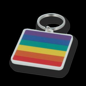 Recycled 45mm Rainbow Keyring