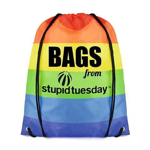 Full Colour RPET Drawstring Bag with Rainbow Branding